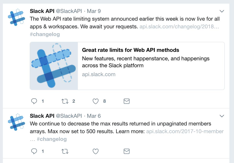 Slack api example