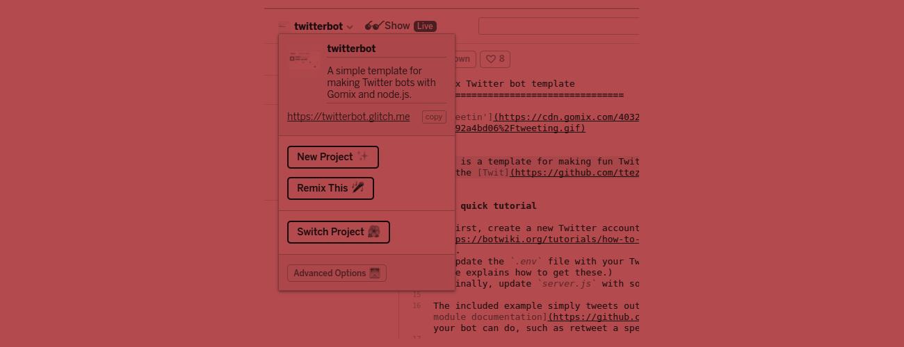 Hosting bots on Glitch | Botwiki