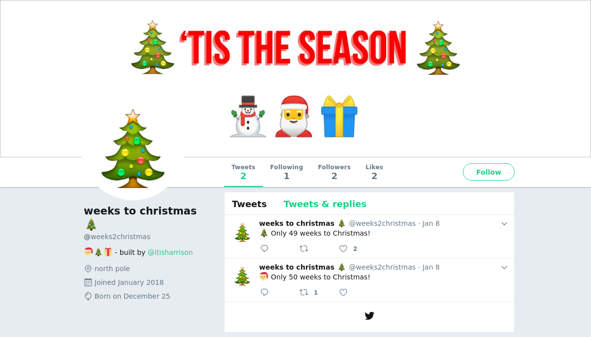 weeks2christmas - How Many Weeks To Christmas