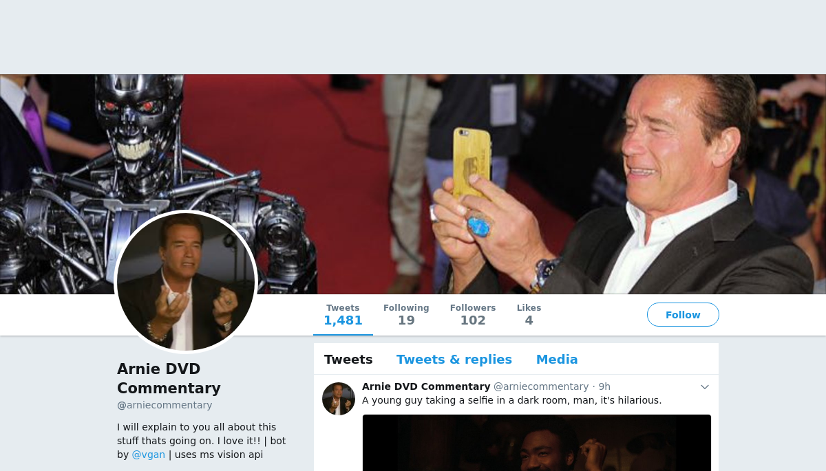 Arnie DVD Commentary