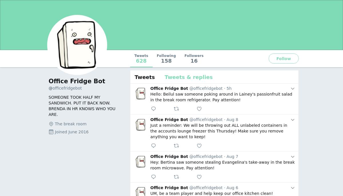 Office Fridge Bot