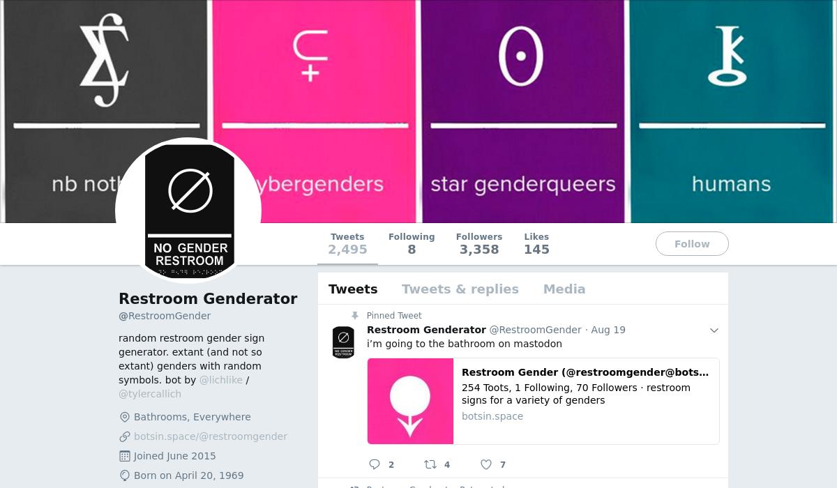 Restroom Genderator