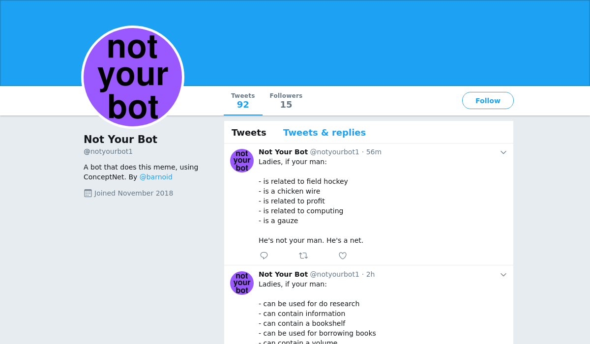 Not Your Bot
