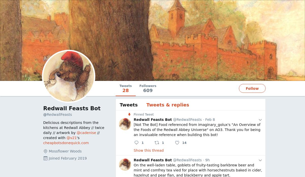 Redwall Feasts Bot