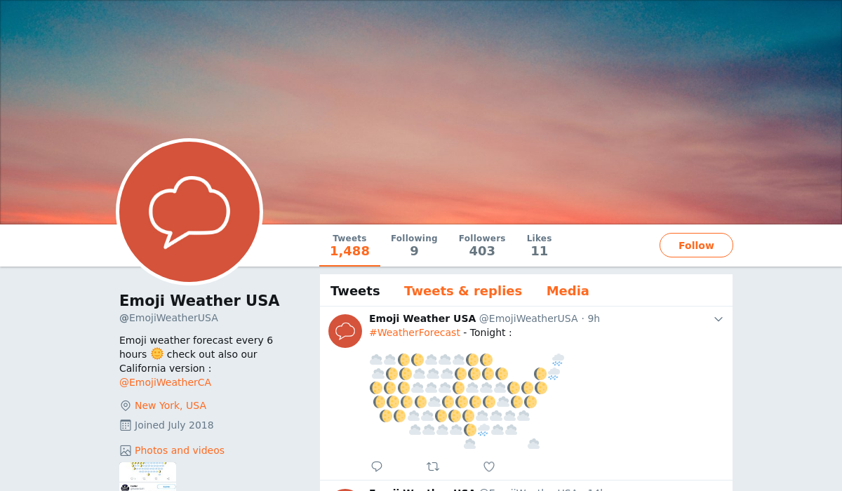 Emoji Weather USA