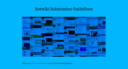 Botwiki Submission Guidelines
